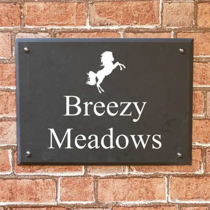 Bevelled Edge Slate House Sign 400mm x 300mm