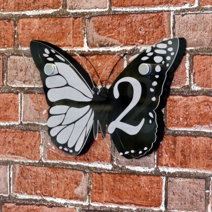 Large Butterfly House Sign
