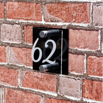 Square House Number 125mm x 125mm