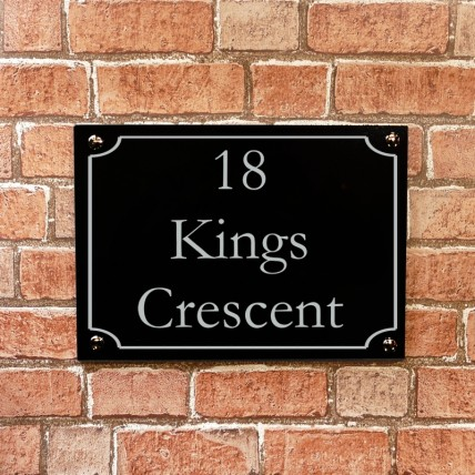 Black Granite House Sign 305mm x 203mm