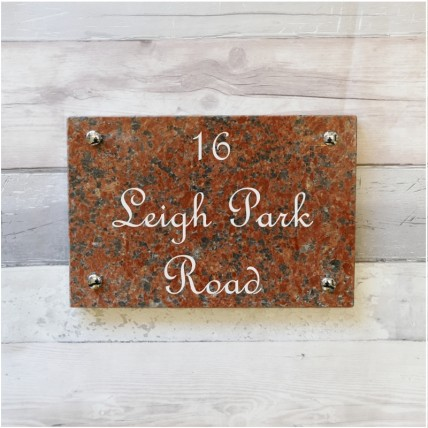 Red Granite House Sign 305mm x 203mm