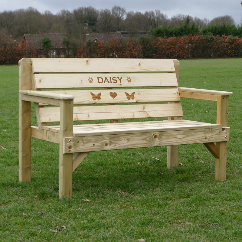 Personalised Garden Memorial Bench