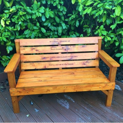 Teak Garden Memorial Bench
