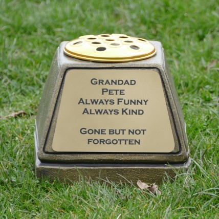 Gold Memorial Flower Pot