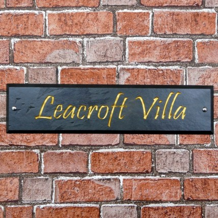 Bevelled Edge Slate House Sign 500mm x 100mm