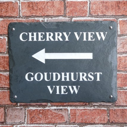 Rustic Slate House Sign 400mm x 300mm
