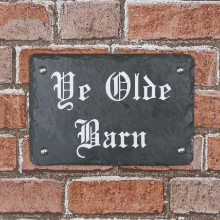 Rustic Slate House Number 250mm x 170mm